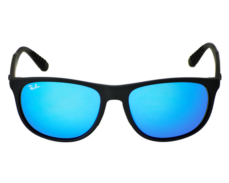 93c5962c48dc9 Ray-Ban RB4291 601S 55 Black Frame Blue Mirror Lenses Unisex Sunglasses 58mm