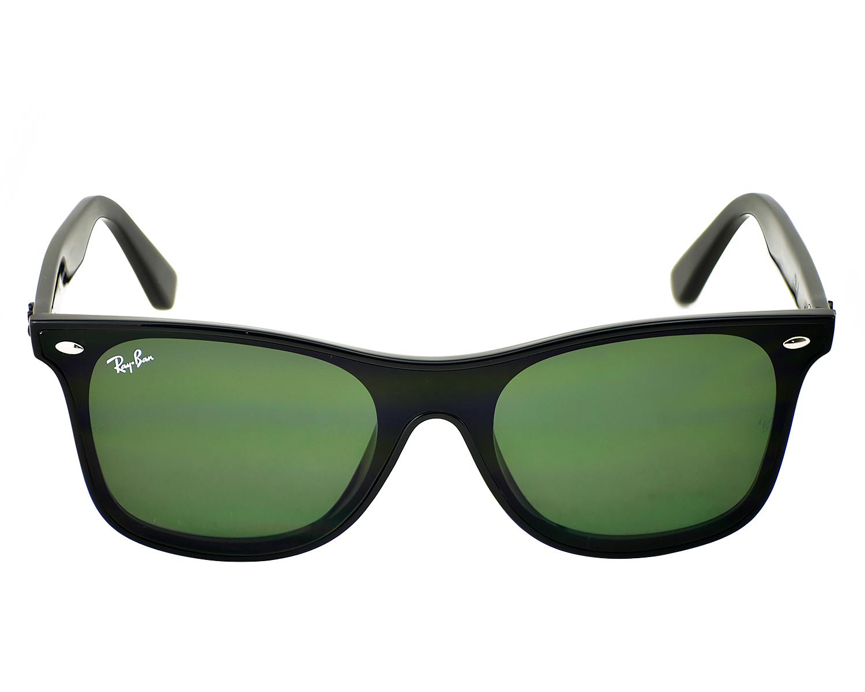 f1f40607a9362 Ray-Ban RB4440N Blaze Wayfarer 601 71 Black Frame Green Classic Lenses  Unisex Sunglasses 41mm