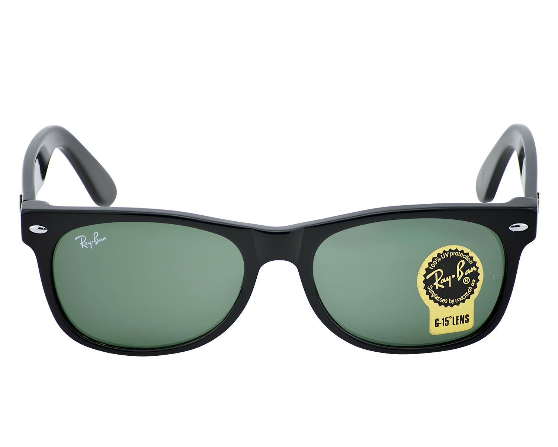 9ef1edf83ae8 Ray-Ban RB2132 NEW WAYFARER CLASSIC 901 Black, Green Classic G15 Unisex  Sunglasses 55mm