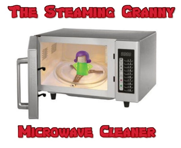 steaming granny the microwave cleaner