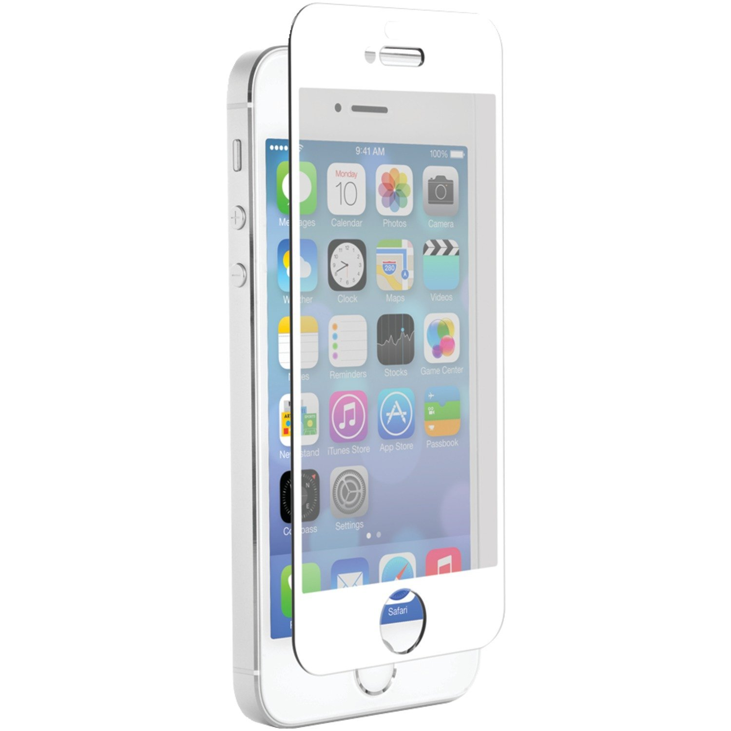 timeless design 9c6b4 efd6a Znitro Glass Screen Protector For Apple iPhone 5/5s/5c - White Bezel