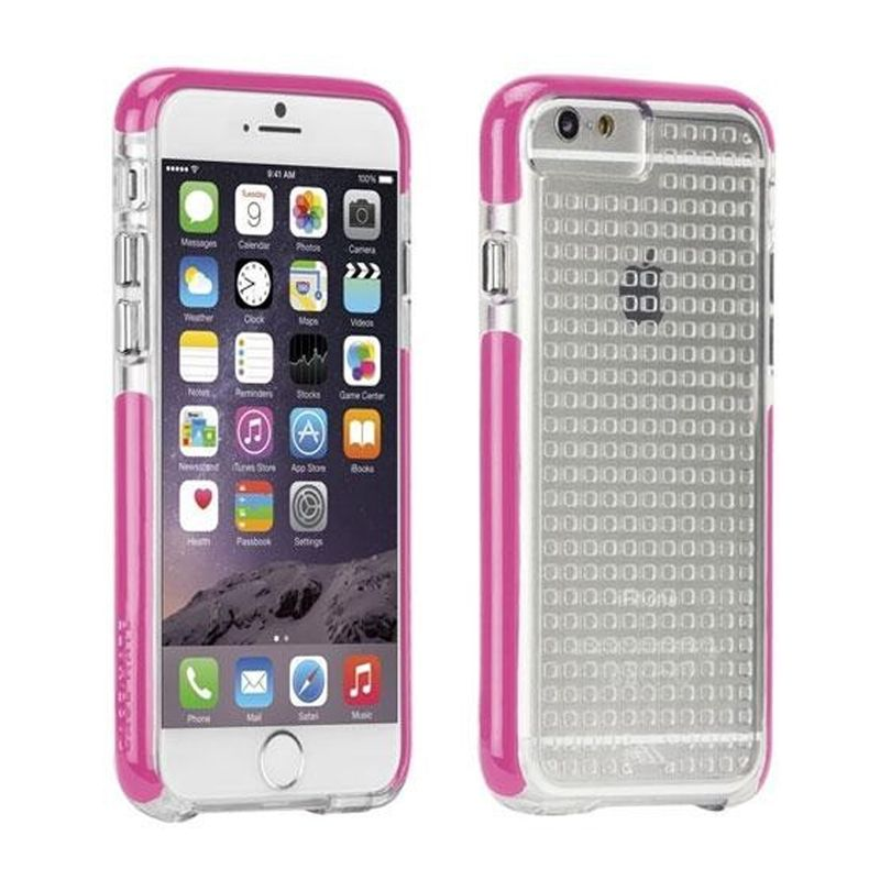 detailed look 0251a 3b5de Case-Mate Tough Air Case for iPhone 6/6s - Clear/Pink