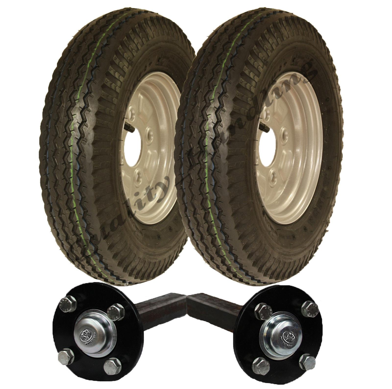 Wheel Axle Kits : High speed trailer kit road legal wheels hub