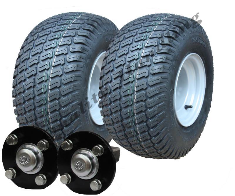 Trailer Axles With Wheels : Heavy duty atv trailer kit kg wheels hub and stub axle