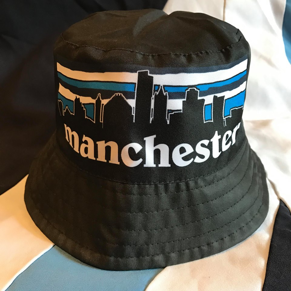 92fc47045e7 Manchester City Bucket Hat Wembley 99 Red Black Skyline
