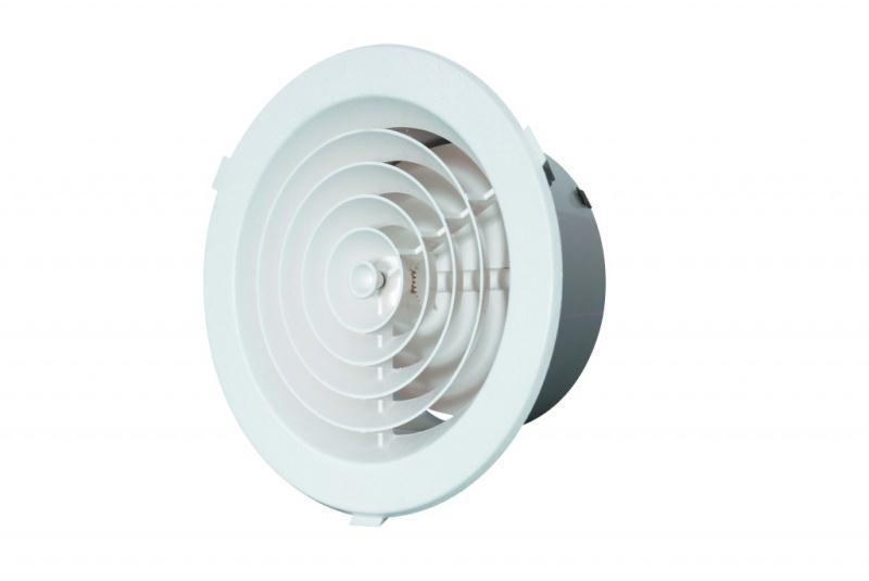 Inline Fan Diffuser ~ Mm duct round diffuser ventilation plastic grill