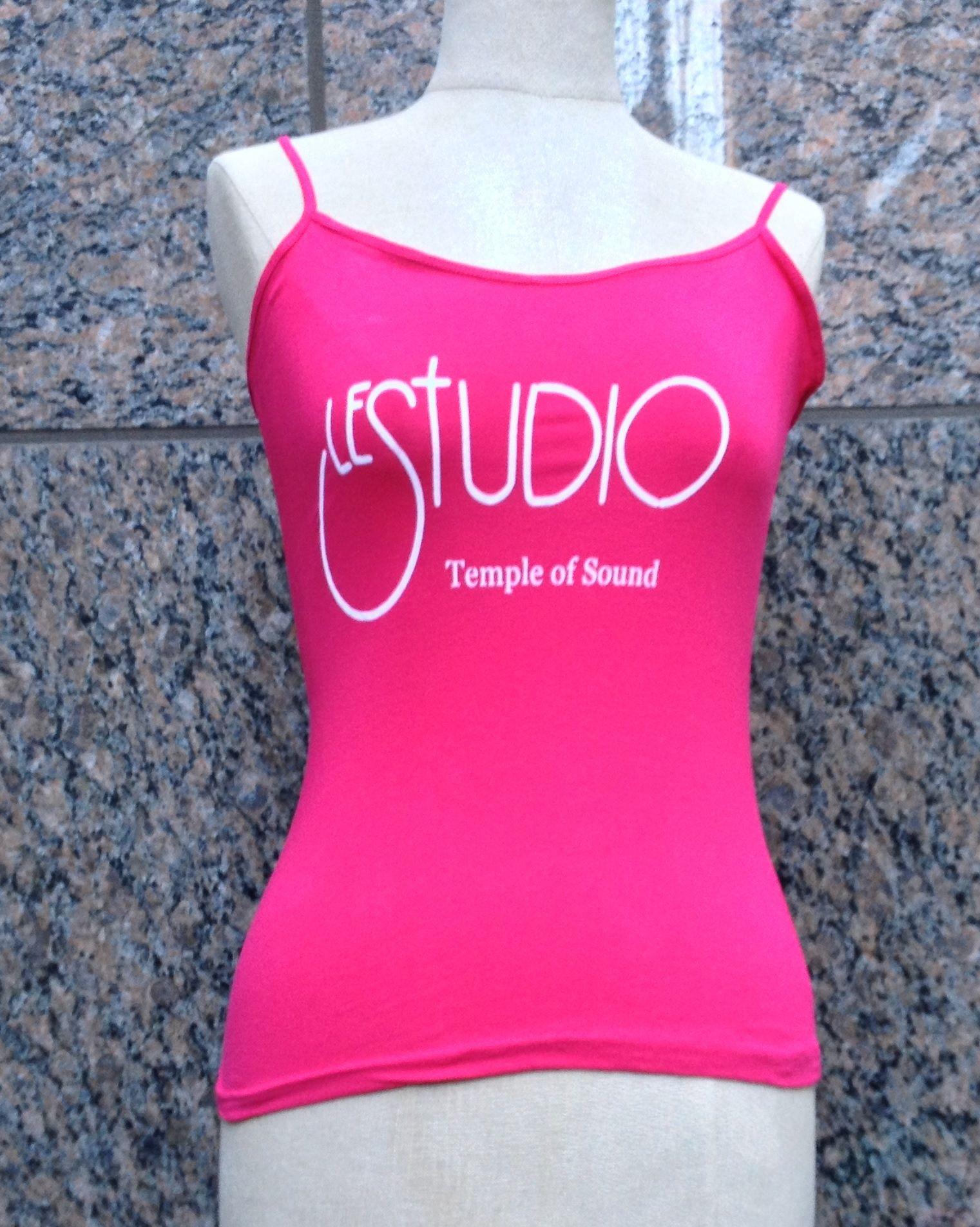 2a6f9499a5538 Woman Hot pink Tank Top White Front Logo