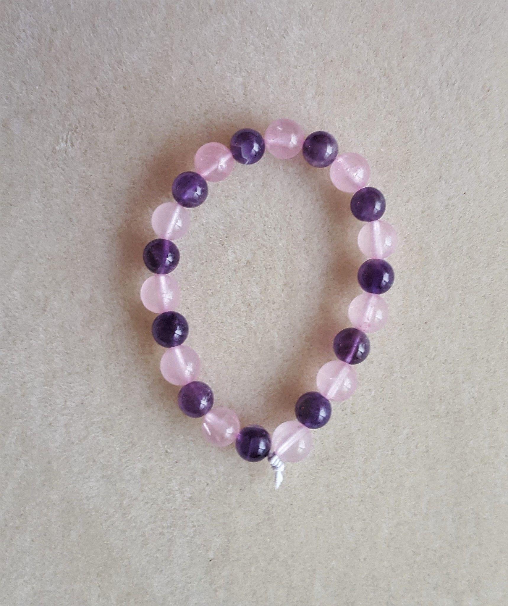 Rose Quartz & Amethyst Bracelet