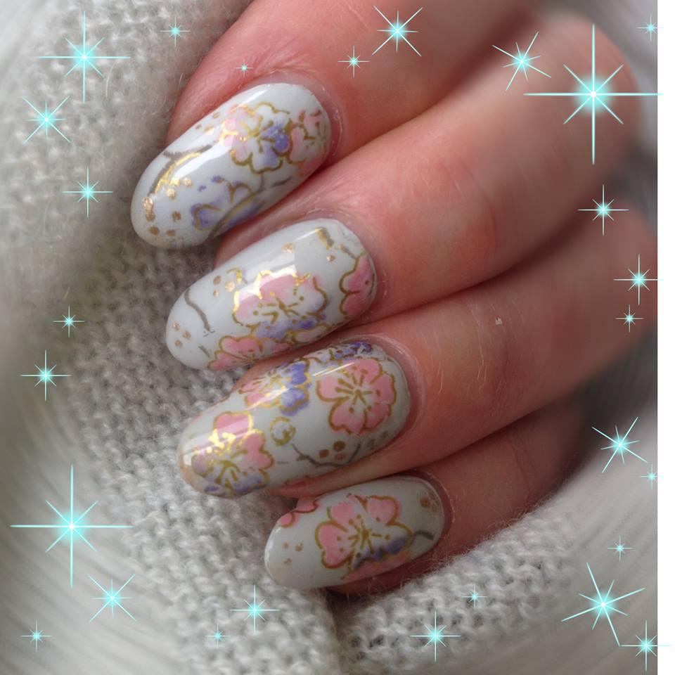 Oriental Floral Nail Art Foil 1 Meter