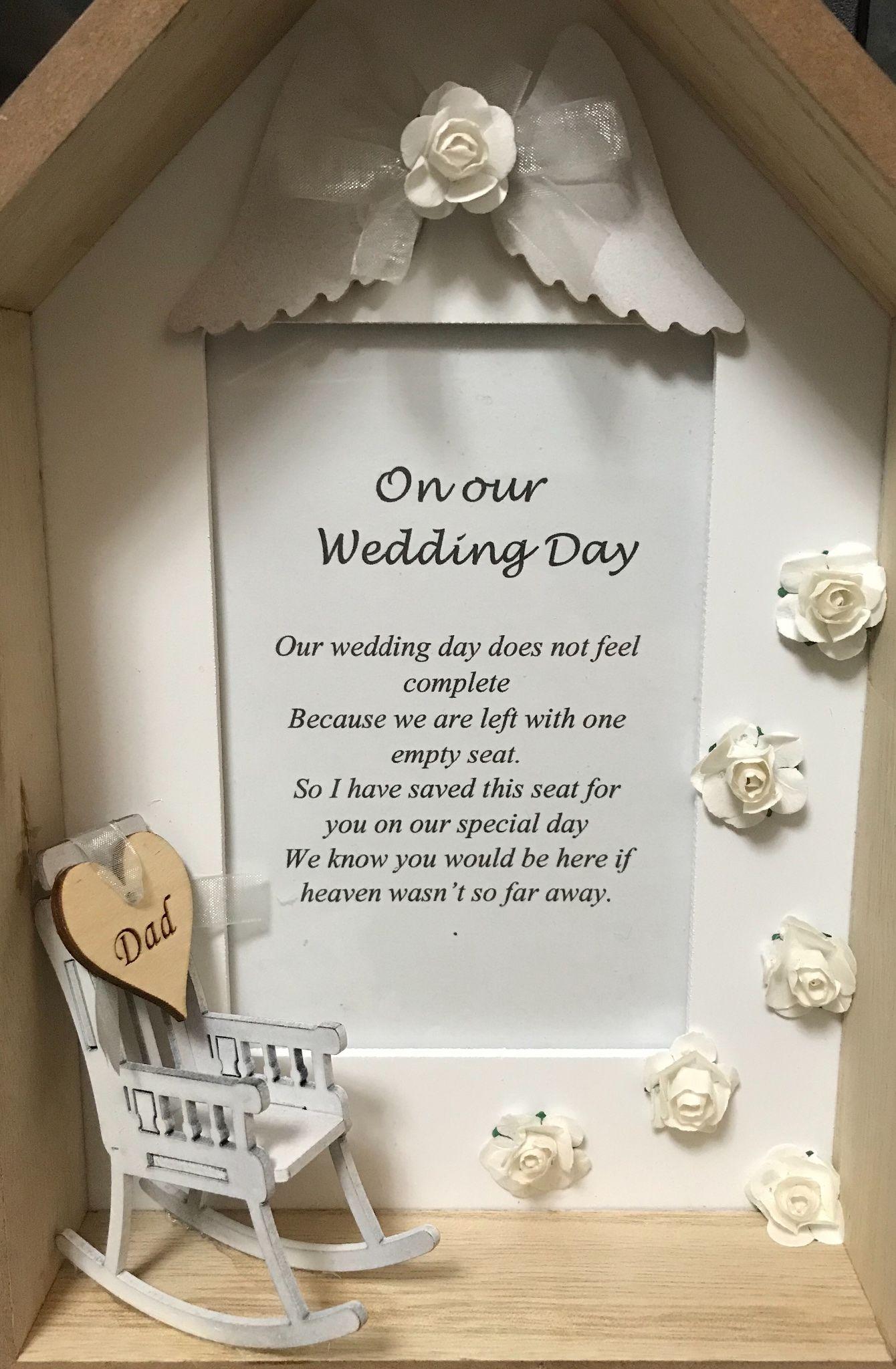 Wedding Day Seat Frame Uk Only