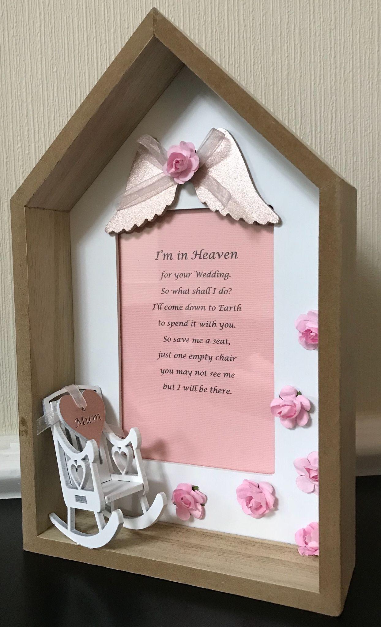 Wedding Day Seat Frame. UK ONLY.