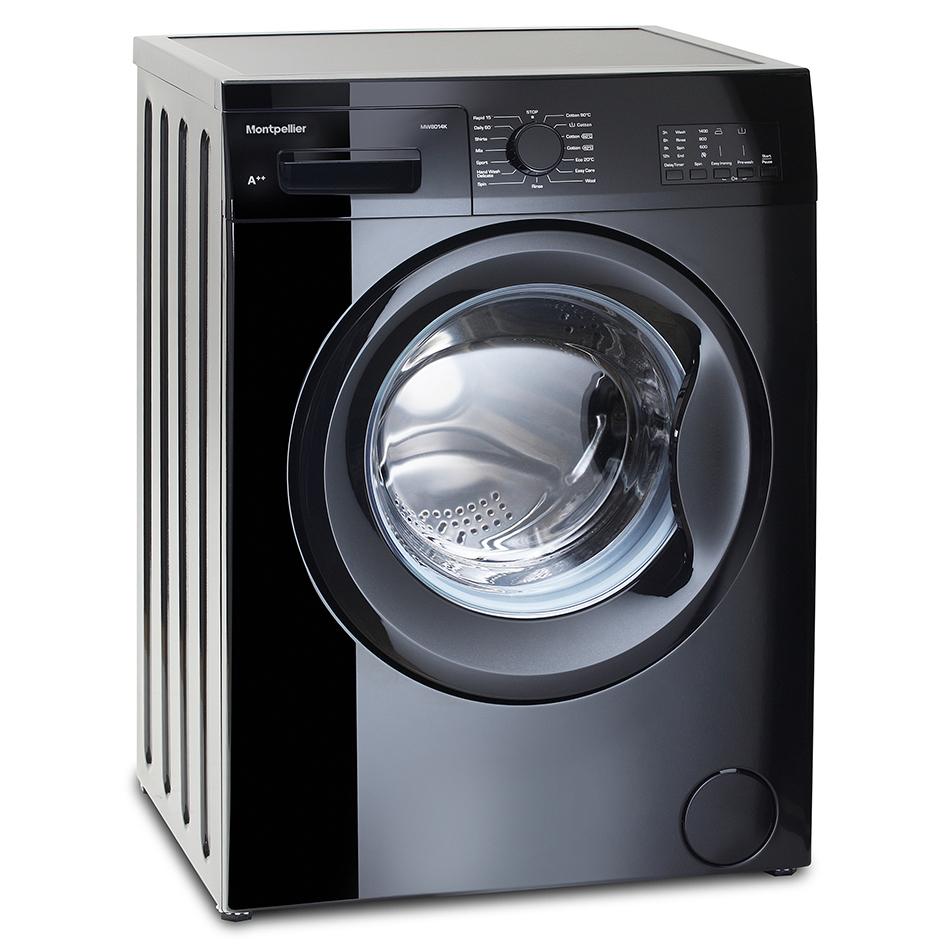 Montpellier 8kg 1400spin A Washing Machine Black