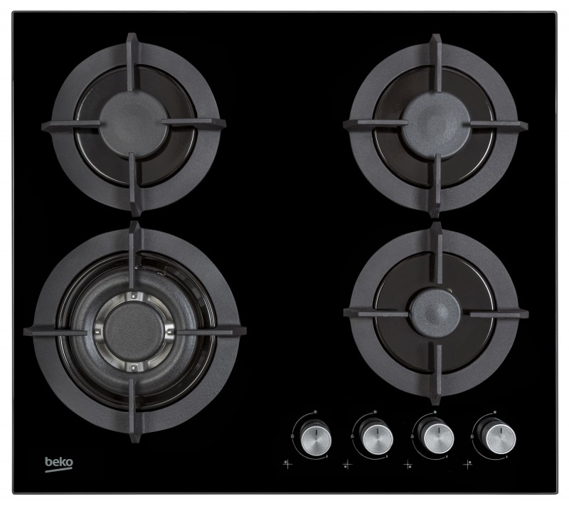 Beko Gas Hob Black Glass