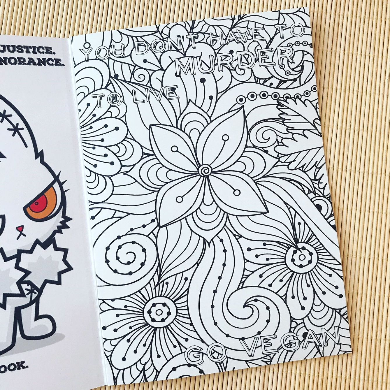 Angry Vegan - colouring book for adults. NOT suitable for children ...