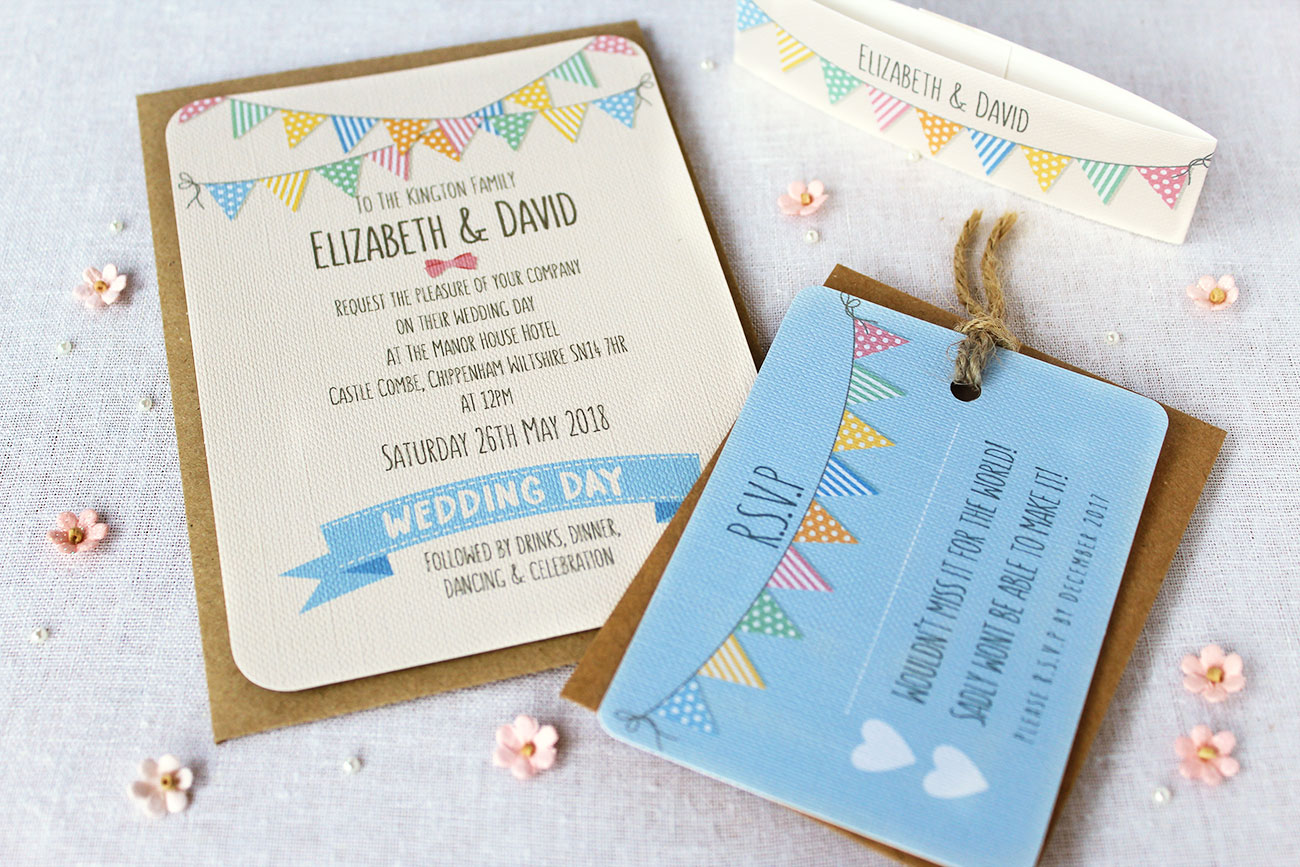 Bunting Wedding Invitation collection