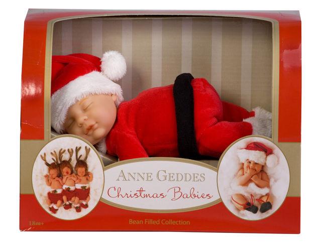 Anne Geddes Baby Santa Doll Christmas Babies Bean Filled