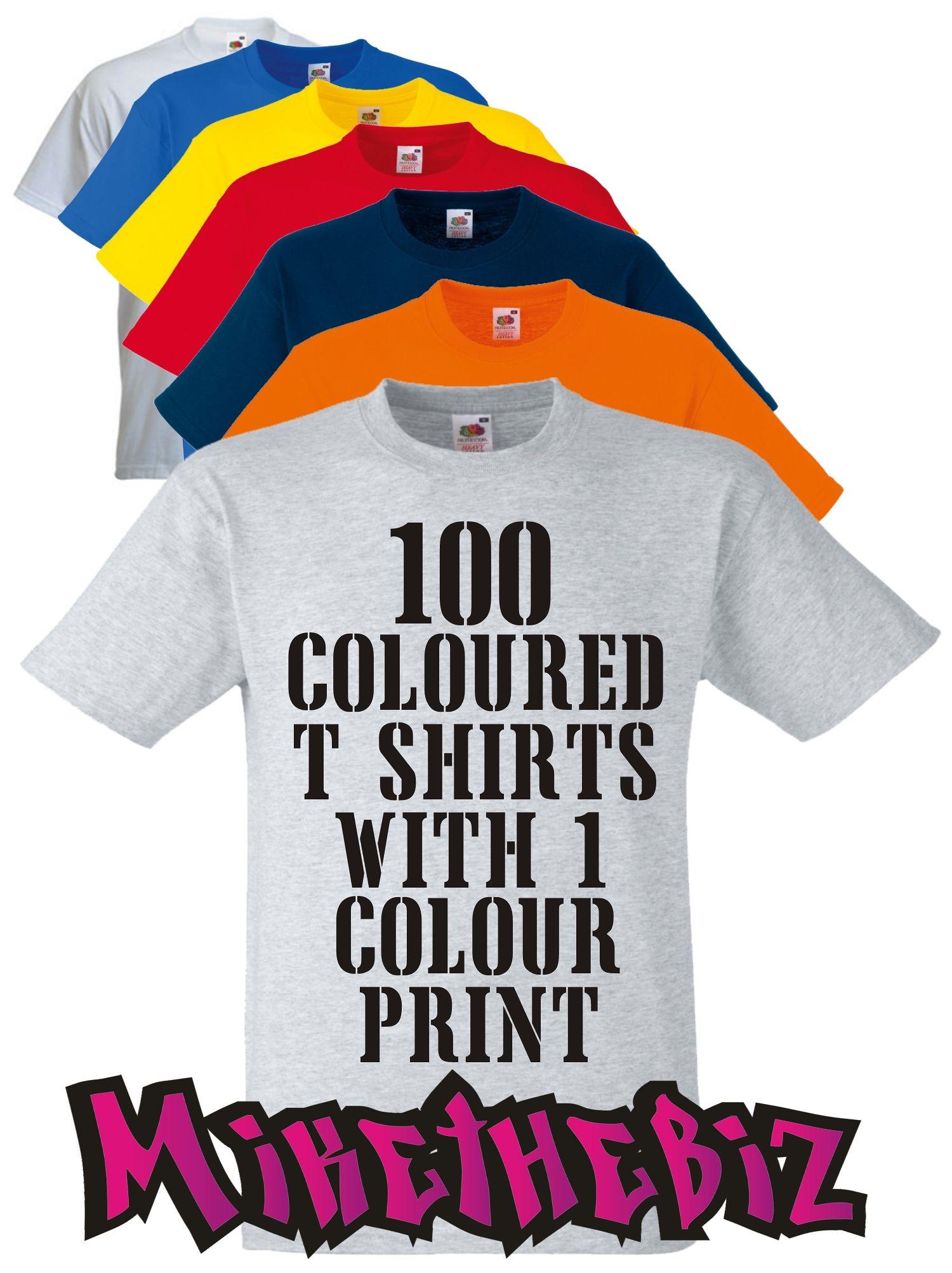 371f6743c3bb8 100 Coloured Screen Printed T Shirts