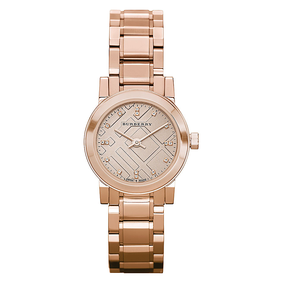 Burberry Bu9215 Watch Heritage Ladies Rose Gold Watch