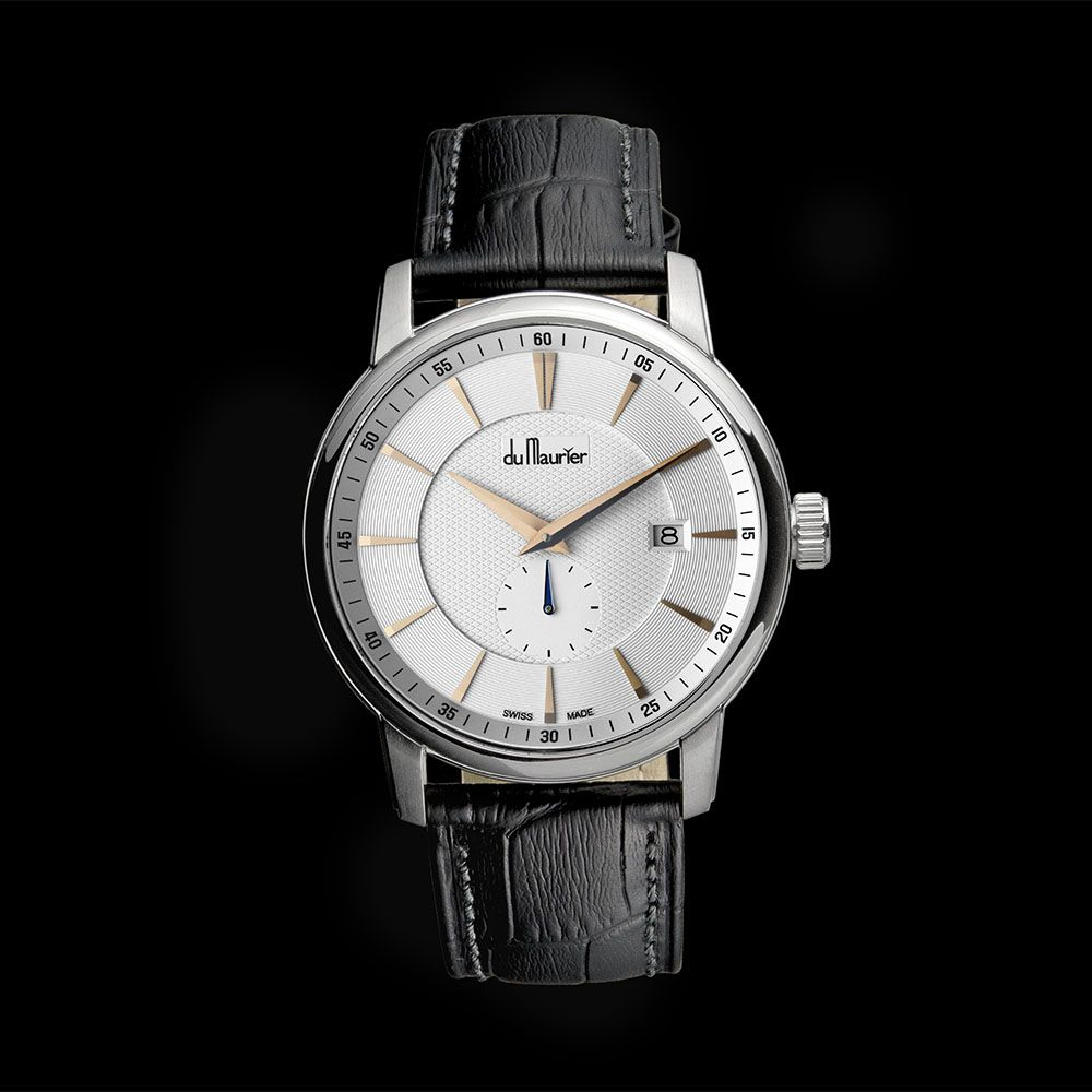 Du Maurier Maxim Gents Swiss Luxury Leather Strap Watch
