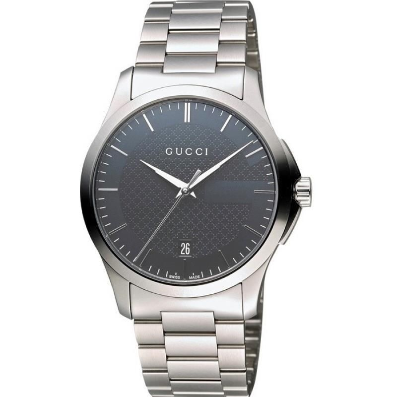 Gucci Men S Ya126441 Silver Steel Bracelet Watch