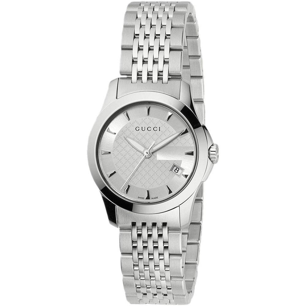Gucci Women's YA126501 G-Timeless Stainless-Steel Bracelet