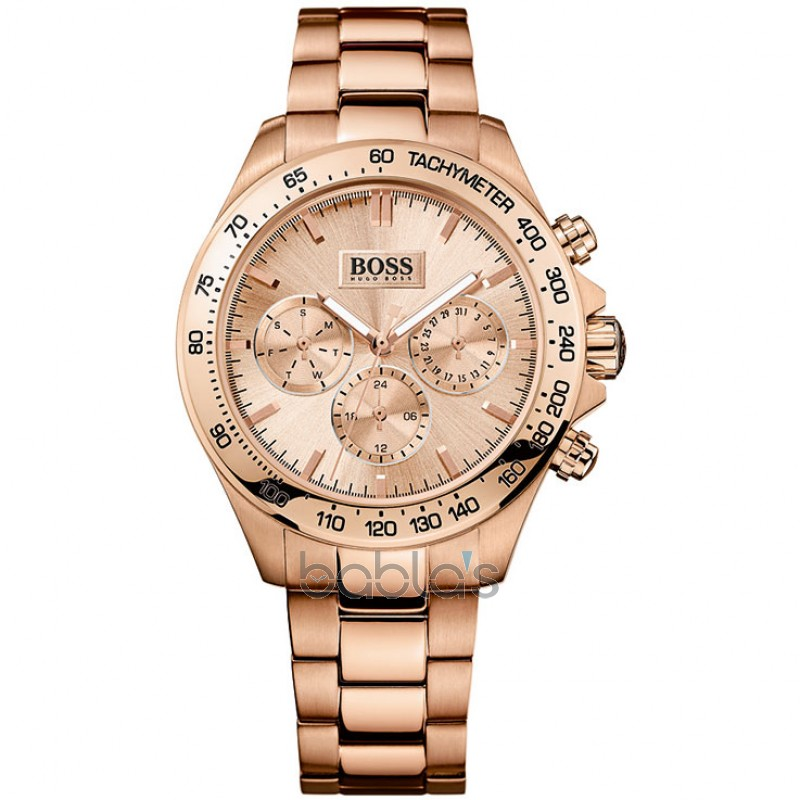 hugo boss 1502371 ikon rose gold ladies bracelet watch. Black Bedroom Furniture Sets. Home Design Ideas