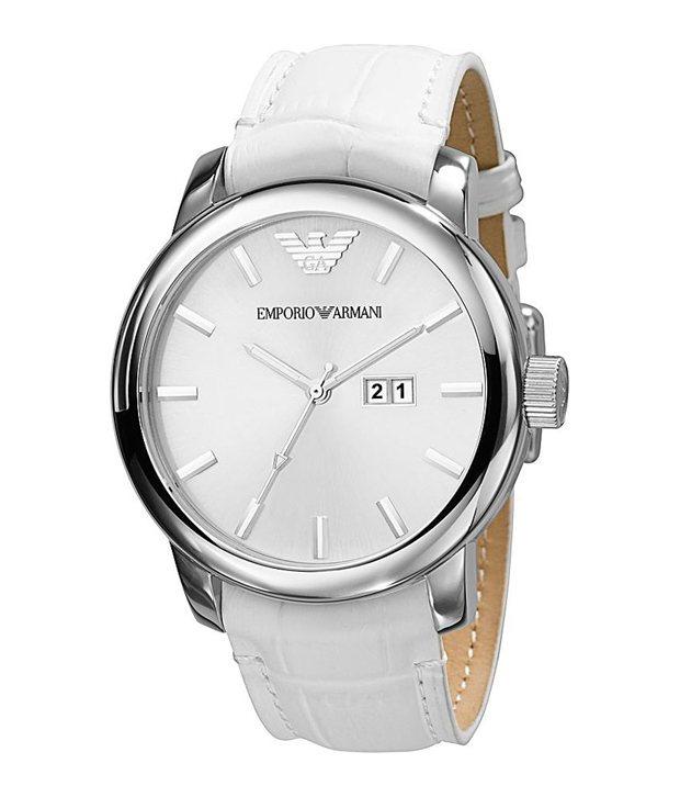 209146daf44 Emporio Armani AR0495 Men s Quartz Classic White Watch