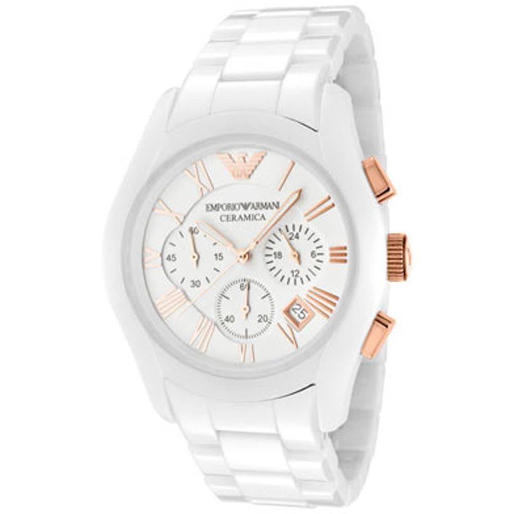 b24c425ef Emporio Armani Gents AR1416 White Ceremica Bracelet Watch