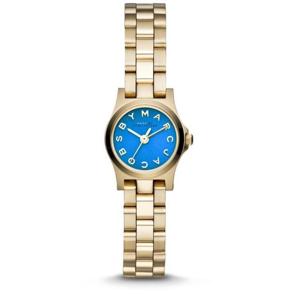 Marc by Marc Jacobs Henry Dinky Blue Dial Gold-tone Ladies Watch 638ac3bf4981