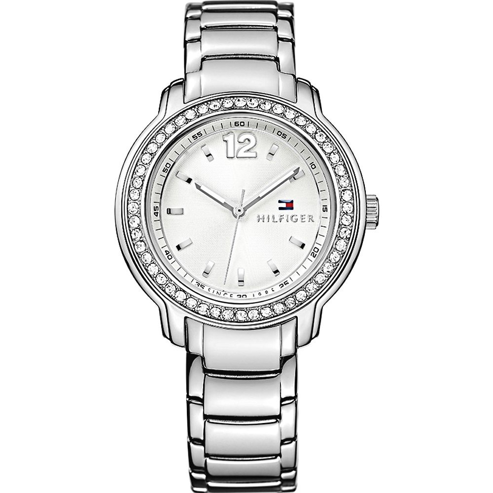 Tommy Hilfiger Silver Dial Stainlerss Steel Ladies Watch