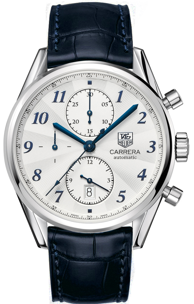 368ce297cf3cc Tag Heuer Carrera Heritage Chronograph Automatic Blue Alligator Leather  Mens Watch