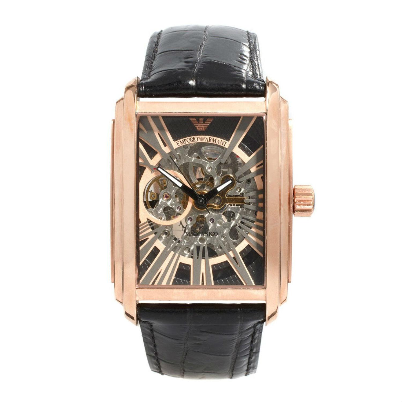708d0b6a8309d Emporio Armani AR4233 Mens Meccanico Skeleton Automatic Watch
