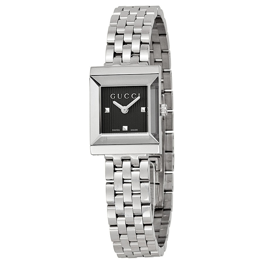 4a315e6ff9b Gucci YA128403 G-Frame Black Dial Ladies Swiss Watch