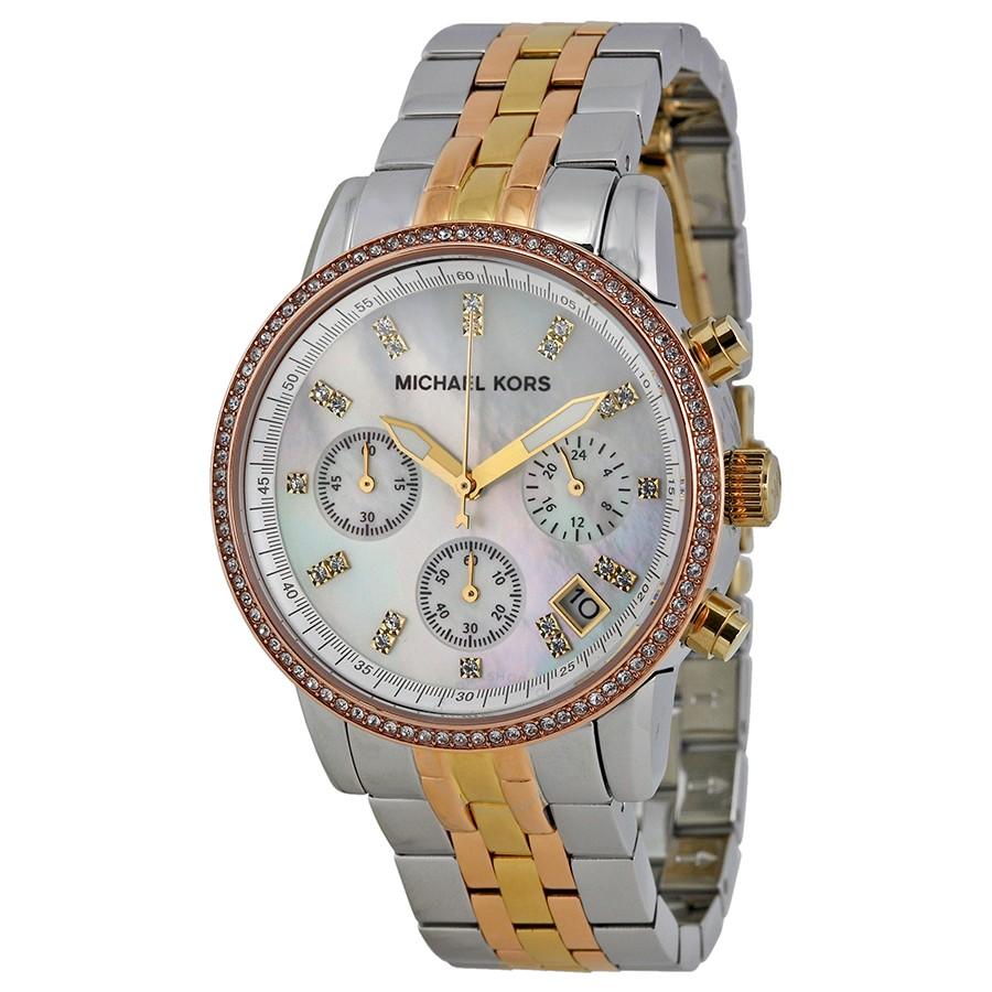 e3c622251b64 Michael Kors Women s MK5650 Ritz Tri-tone Watch
