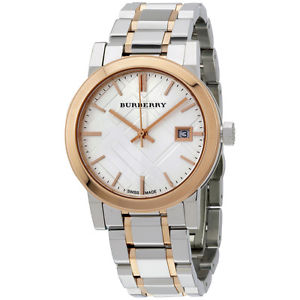 cfc7259d338 Burberry Women s BU9105 Large Two Tone Stainless Steel Watch