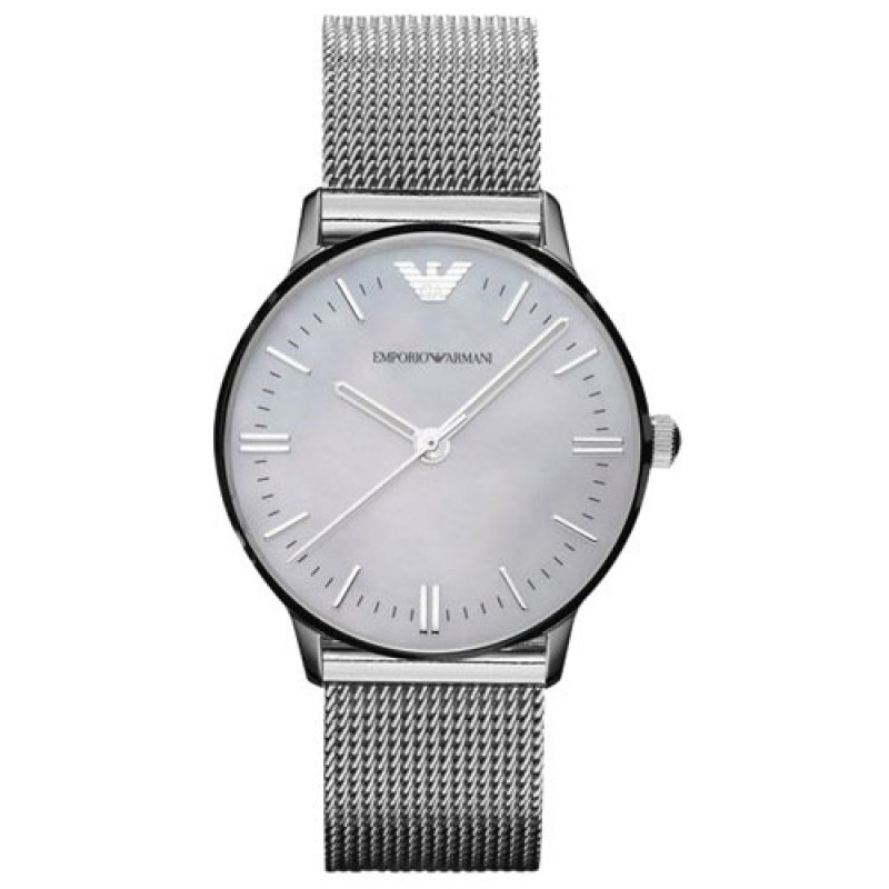 Emporio Armani AR1631 Ladies Classic Silver Watch c1c02e6e2ca