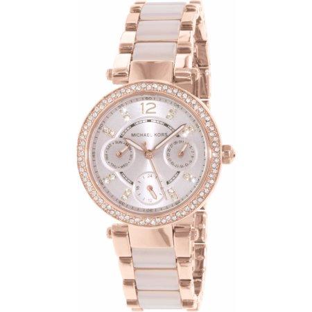 68afa51cd294 Michael Kors MK6110 Women s Rose Gold with Metal Strap Watch