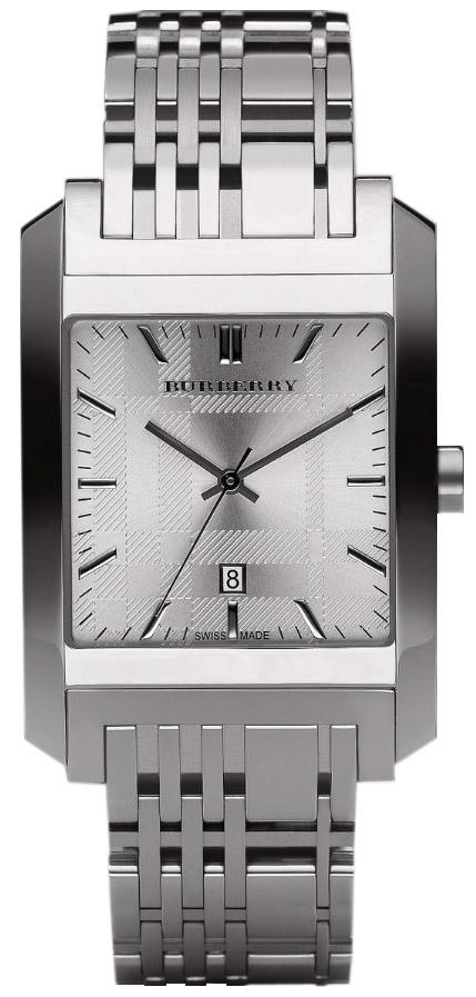 Burberry Bu1567 Square Silver Dial Bracelet Men S Watch