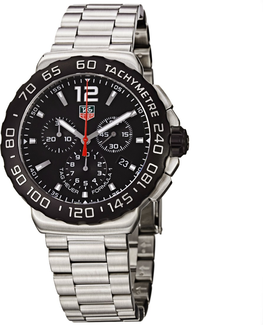 7505d5cbef3b Tag Heuer Formula 1 Chronograph Black Dial Stainless Steel Mens Watch