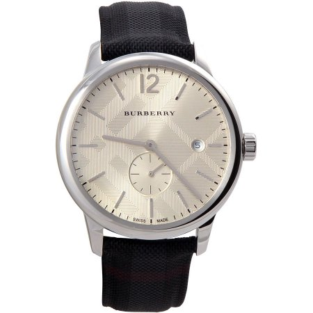 8484cd39e48 Burberry BU10008 Men s Check Stamped Round Dial Watch. BU10008