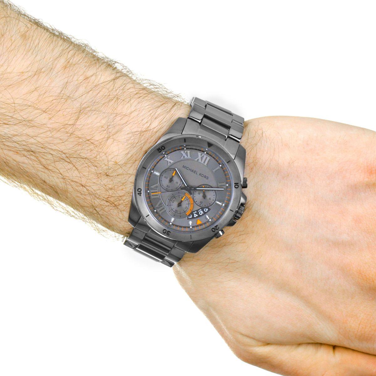cbbf27ab514a Michael Kors MK8465 Brecken Chronograph Grey Dial Men s Watch. MK8465