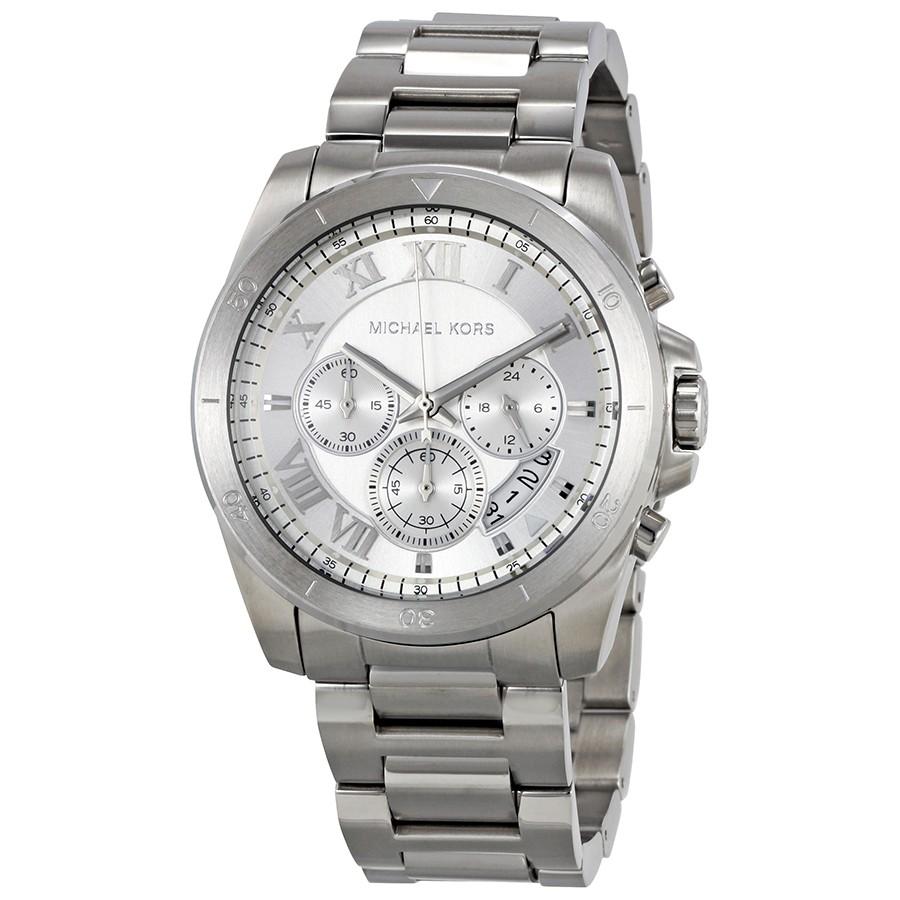 e3946db02b7f Michael Kors MK8562 Brecken Silver Dial Men s Chronograph Watch