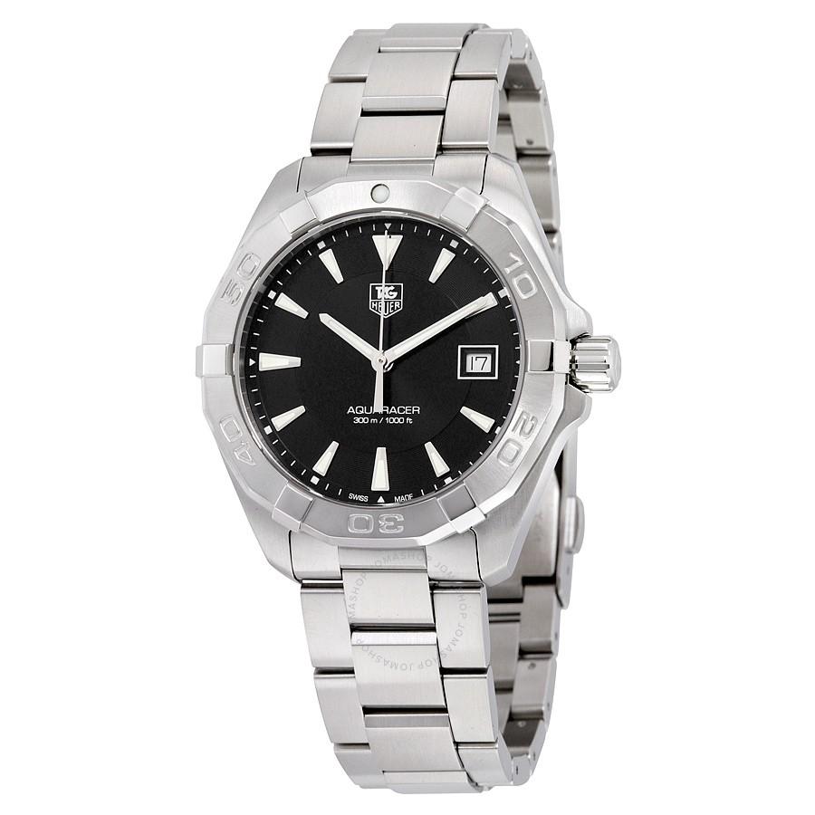 19535fd7701d Tag Heuer way1110.ba0928 Aquaracer Black Dial Men's Watch