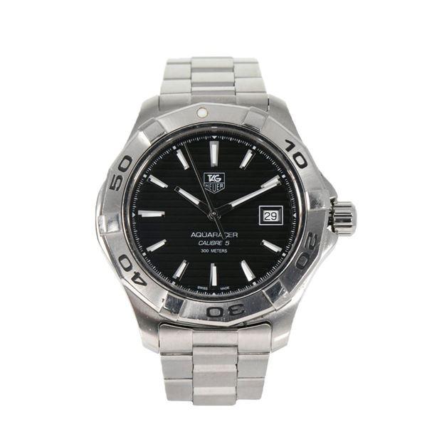 huge selection of dbae6 e571b Pre Owned Tag Heuer WAP2010 Aquaracer Men's BGJC8 Steel Watch