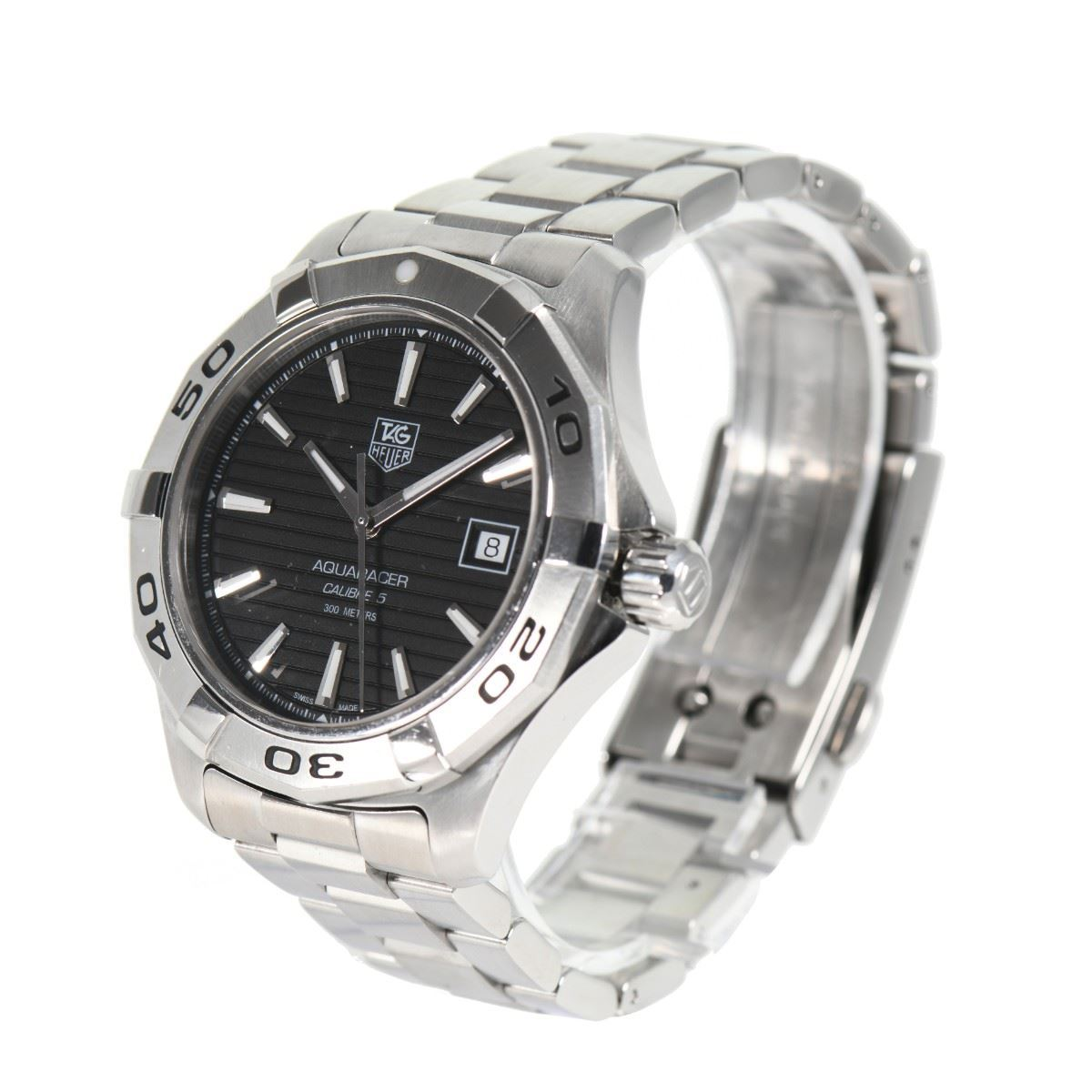 premium selection 4e372 4e0c6 Pre Owned Tag Heuer WAP2010 Aquaracer Men's 69Y@M Steel Watch
