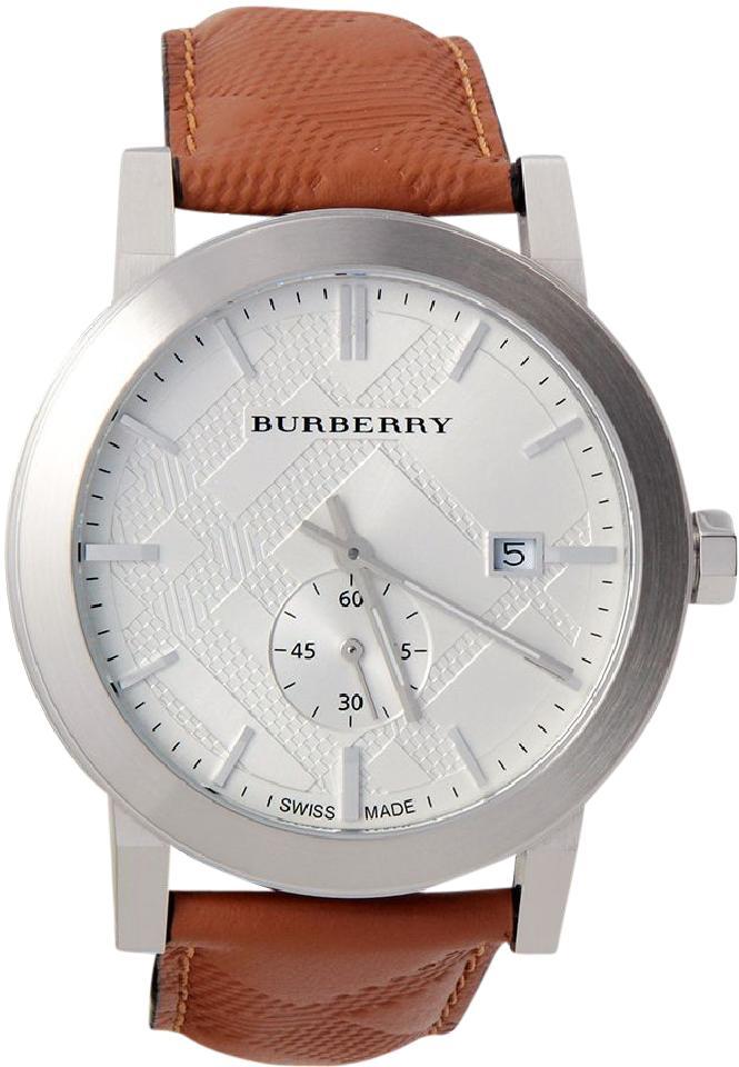 7e4912667a68 Burberry BU9904 Men s Classic Round Leather Swiss Quartz Watch