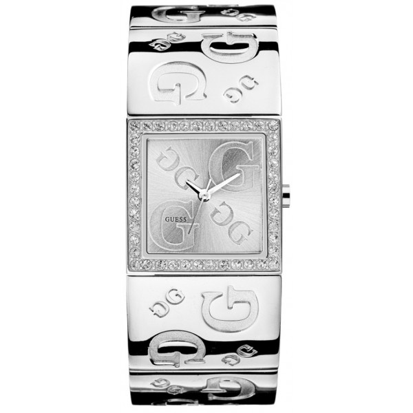 aaf53336b6c5 Guess Watches G2G I70607L1 Womens Polished Silver G Bangle Strap
