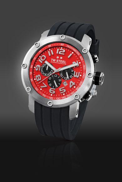 Tw Steel Grandeur Tech 48mm Red Dial Chronograph Mens Watch