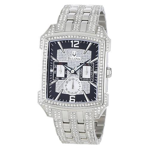 Bulova 96c108 Men S Crystal Encrusted Chronograph Watch