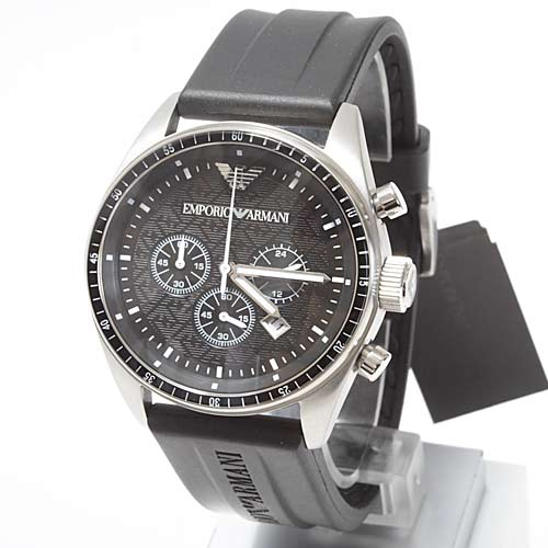 Emporio Armani Ar0527 Chronograph Resin Band Mens Watch